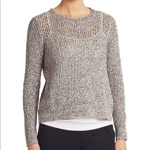 Eileen Fisher Petite Gray Loose Knit Sweater